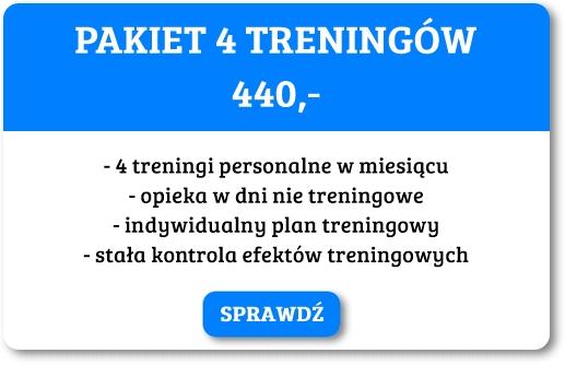 Cena czterech treningów personalnych w Poznaniu